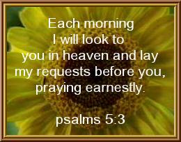 Psalms 5:3